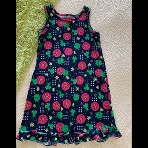 Girls Circo Blue Floral Frog Sleeveless Nightgown